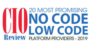 20 Most Promising No Code/Low Code Platform Providers - 2019