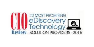 20 Most Promising eDiscovery Technology Solution Providers - 2016