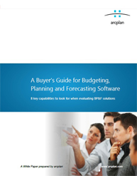 A Buyer's Guide for Budgeting, Planning and Forecasting Software Process