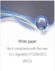 Be in Compliance with the New E.U. Regulation No 1169 2011 (INCO)