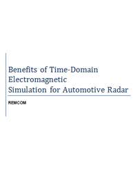 Benefits of Time-Domain Electromagnetic Simulation for Automotive Radar