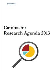 Cambashi Research Agenda 2013