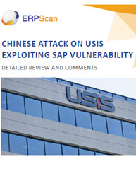 Chinese Attack on USIS Exploiting SAP Vulnerability