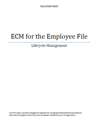 ECM for the Employee File Lifecycle Management