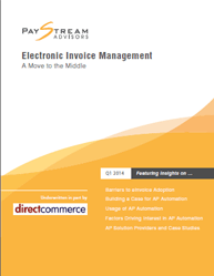 Electronic Invoice Management a Move to the Middle