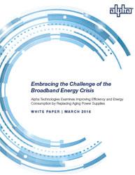 Broadband Energy Crisis: Improving the Energy Efficiency