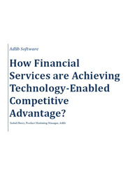 How Financial Services are Achieving Technology-Enabled Competitive Advantage