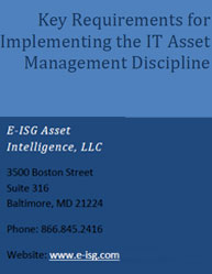 Key Requirements for Implementing the IT Asset Management Discipline
