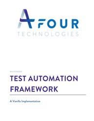 Test Automation Framework: A Vanilla Implementation