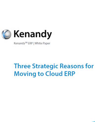 Three Strategic Reasons for Moving to Cloud ERP
