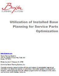Utilization of Installed Base Planning for Service Parts Optimization