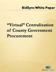 """Virtual"" Centralization of County Government Procurement"