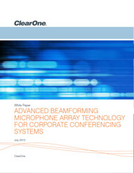 Advanced Beamforming Microphone Array Technology For Corporate Conferencing Systems