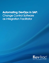 Automating DevOps in SAP: Change Control Software as Integration Facilitator