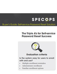 Buyer's Guide: Self-service Password Reset Solution