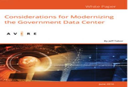 Considerations for Modernizing the Government Data Center