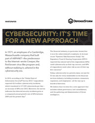 Cybersecurity: It's Time for a New Approach