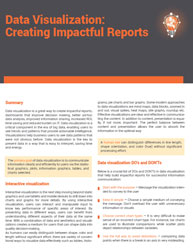 Data Visualization: Creating Impactful Reports