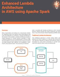 Enhanced Lambda Architecture in AWS using Apache Spark
