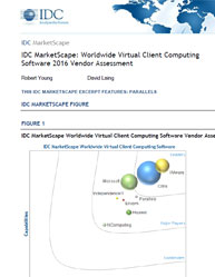 IDC MarketScape: Worldwide Virtual Client Computing Software 2016 Vendor Assessment