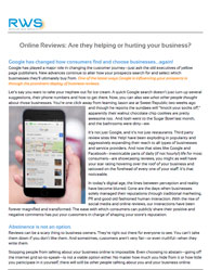 Online Reviews: Are they helping or hurting your business?