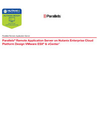Parallels Remote Application Server on Nutanix Enterprise Cloud Platform Design VMware ESX & vCenter