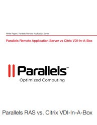 Parallels Remote Application Server vs Citrix VDI-In-A-Box