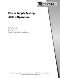 Power Supply Testing: 400 Hz Operation