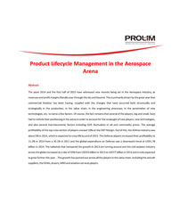 Product Lifecycle Management in the Aerospace Arena