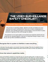 The Video Surveillance Safety Checklist