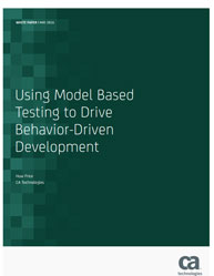 Using Model Based Testing to Drive Behavior-Driven Development