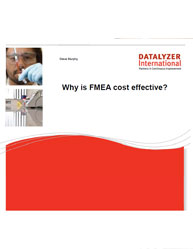 Why is FMEA cost effective?