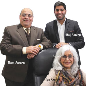 Ram Sareen, CEO & Founder Iva Sareen, President Raj Sareen, Director of Strategic Relationships