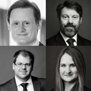 Christian N. Schmid (Managing Director and Partner), Raffael Kazda (Associate Director), Daniel Wagner (Manager) and Annika Melchert (Senior IT Architect), all core members of the Banking Practice Area of BCG and BCG Platinion